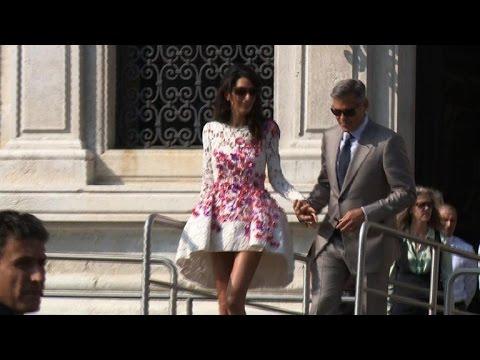George Clooney et Amal Alamuddin se sont dit