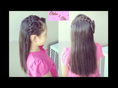 Peinado: Diadema con Corazon - Hairstyle: Braided Heart Headband | Chikas Chic