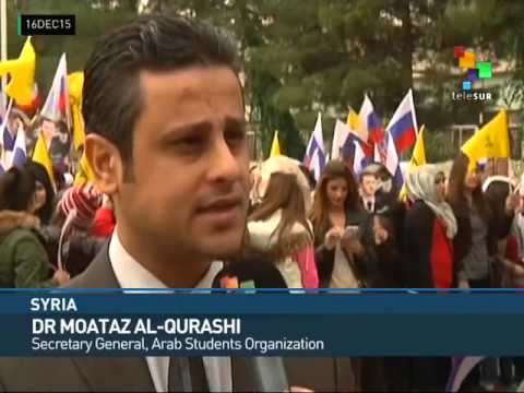 Syria: Students Thank Coalition Forces