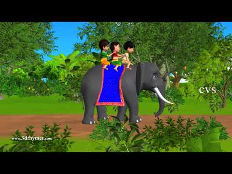 Elly The Elephant - 3D Animation English Nursery Rhyme For Children