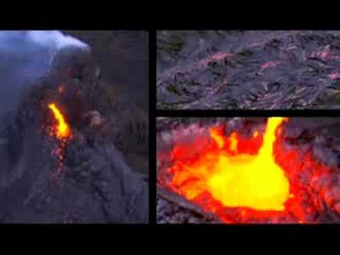 Volcanoes erupting on the Big Island of Hawaii