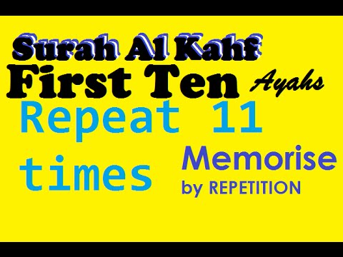 Download Lagu Repeat 11times - First 10 Ayahs of Surah Al Kahf (Learn by repetition) MP3 Free
