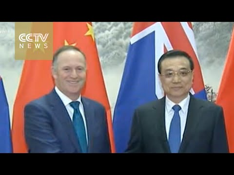 Chinese Premier Li Keqiang welcomes New Zealand PM in Beijing
