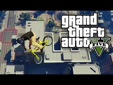 GTA 5 Online - SURVIVING A BIKE JUMP FROM THE MAZE BANK! (GTA V Online)