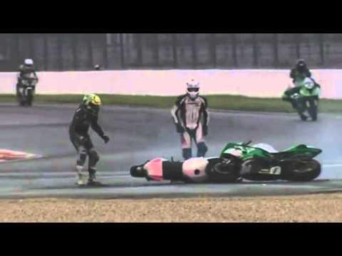 Superbikes Dance After Crash