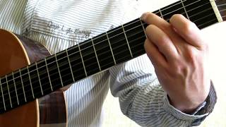 Видео урок перебора на гитаре