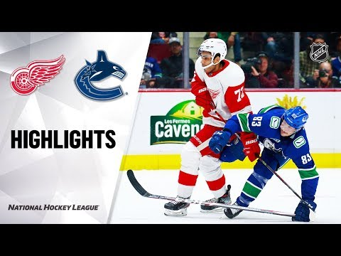 Red Wings  Canucks 101519 Highlights