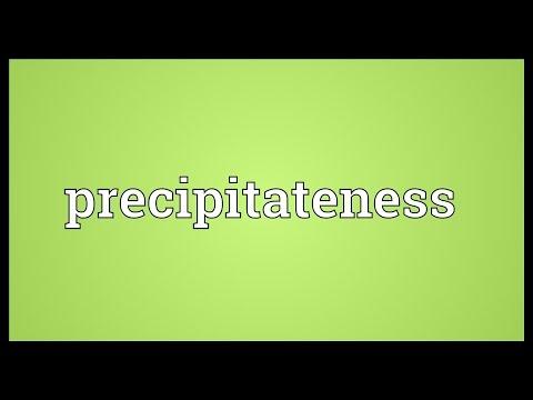 Header of precipitateness