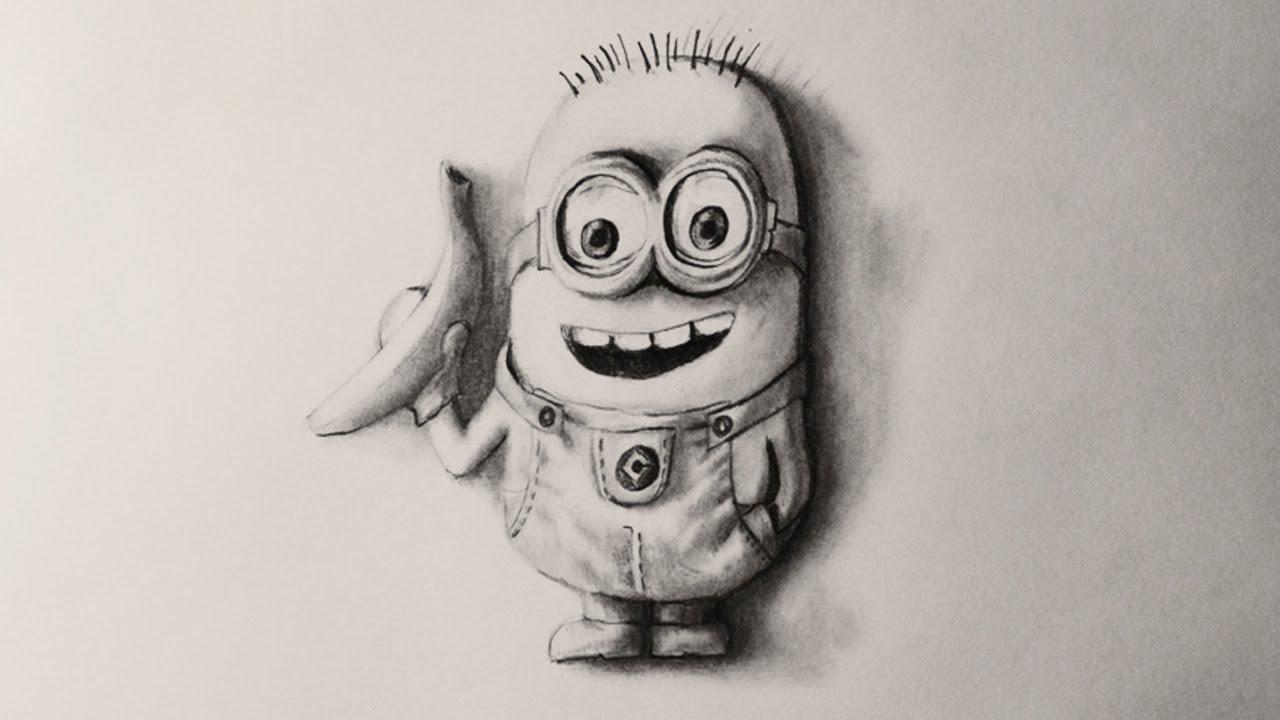 Нарисовать объемный рисунок карандашом