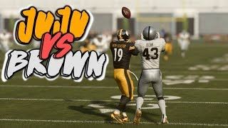 THE BIGGEST RIVALRY IN FOOTBALL!! JUJU SMITH-SCHUSTER vs ANTONIO BROWN!!