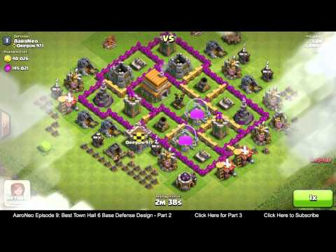 BEST Town Hall Level 6 (TH6) Base Defense Design Layout Strategy for Clash of Clans - Part 2
