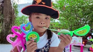 Trò Chơi Cô Bé Phù Thuỷ Biến Hubba Bubba Vị Dưa Hấu ❤ ChiChi TV ❤ Đồ Chơi Trẻ Em