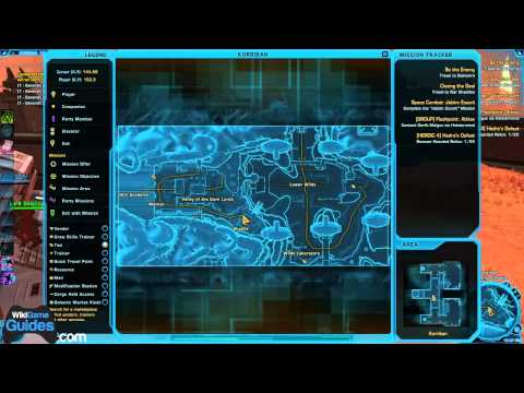 Korriban SWTOR Datacron Locations -(3 Datacrons, Willpower +2, Endurance +2, Red Matrix Shard)