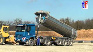 Mercedes-Benz Arocs 1845 Dump Trailer / Sattelkipper, Fa. Gläser, Germany, 2015.