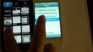 Comparatif Apple iPhone 4S vs Samsung Galaxy S2 : Navigateur web