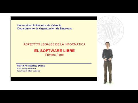 El software libre (1ª Parte).© UPV