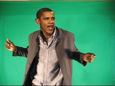Obama Dances with Thalia at Fiesta Latina,michael jackson tribute spoof