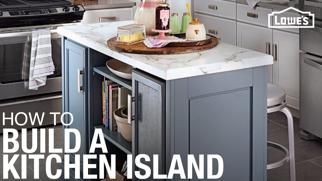 Kitchen island build youtube for Making a kitchen island from cabinets