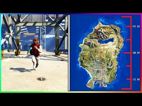 WIE LANGE DAUERT ES UM ÜBER DIE GESAMTE MAP ZU RENNEN?! | WIE GROß IST LOS SANTOS IN GTA 5?!
