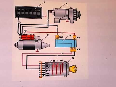 Газ 53 электросхема цветная