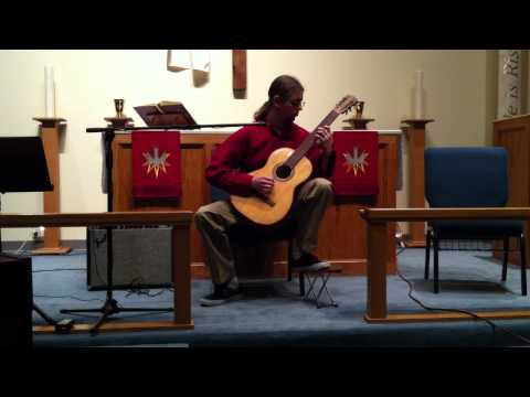 Jody Weidick's first public performance on classical guitar 5-20-12