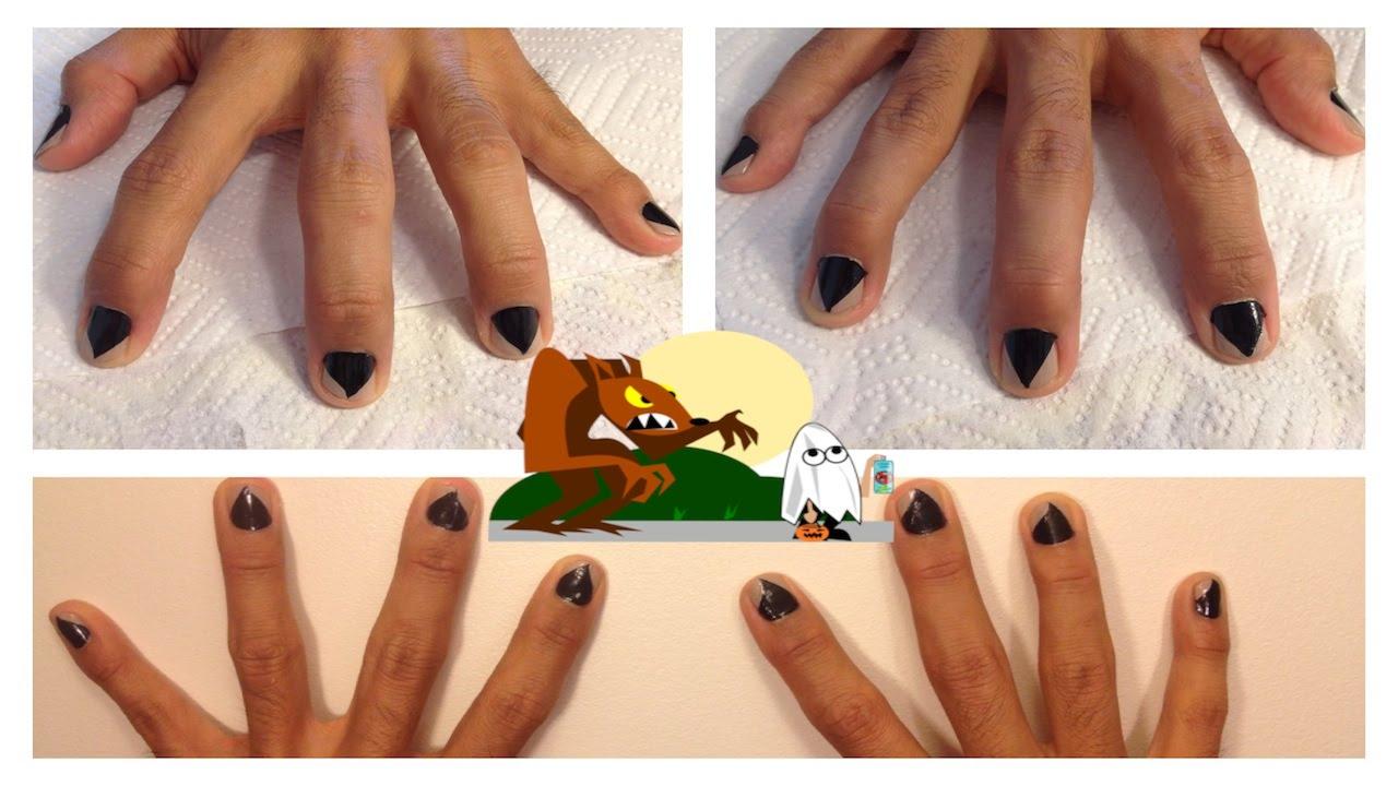 Quick easy diy werewolf nail art youtube Diy nail art ideas youtube