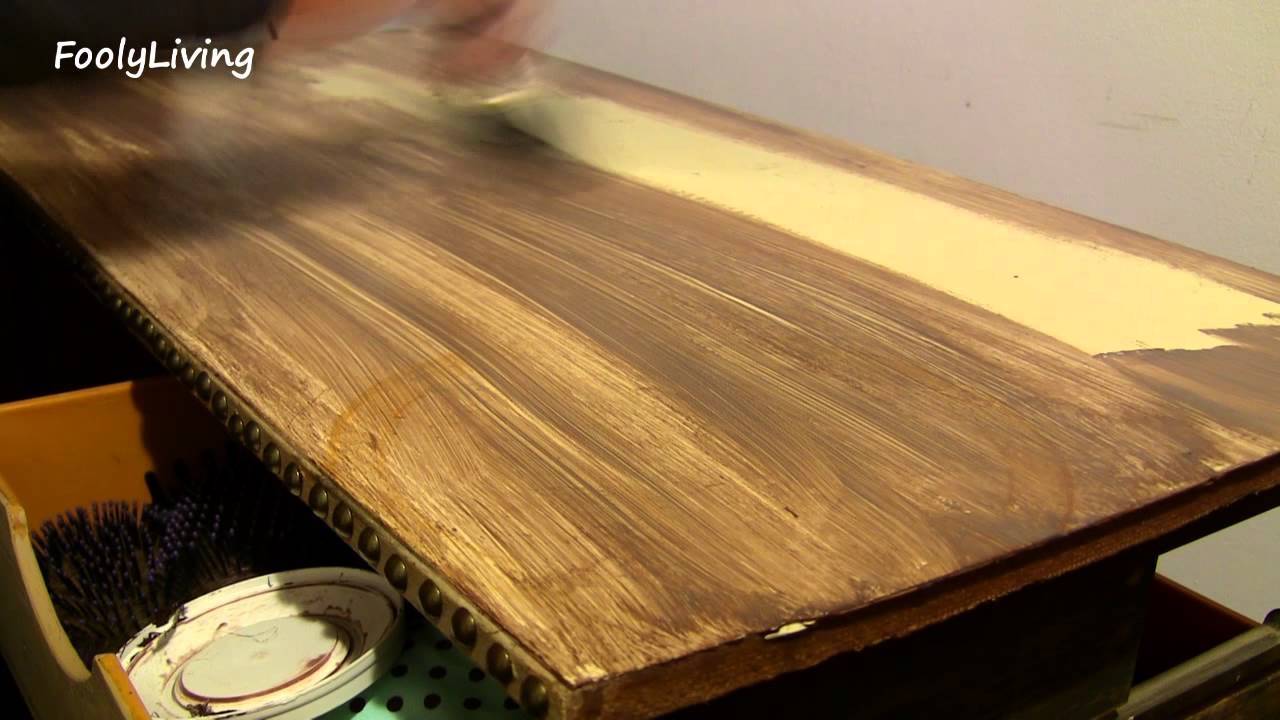 Faux Wood Painting Makeup Table Makeover Youtube