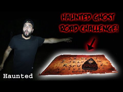 I PLAYED THE OUIJA BOARD ON THE HAUNTED GHOST ROAD!