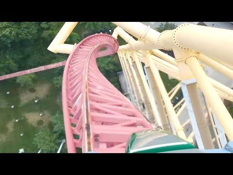 Top Thrill Dragster Front Row (HD POV) 420 ft Strata Roller Coaster