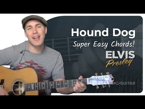 Hound Dog - Elvis (Very Easy Song Beginner Guitar Lesson BS-103) How To Play