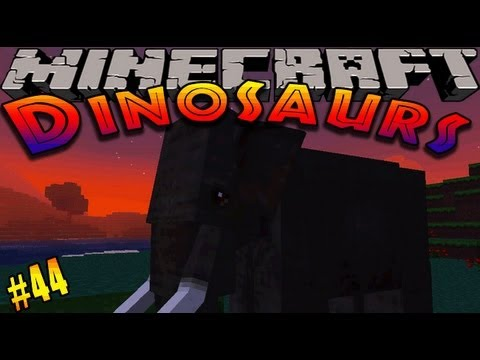 Minecraft Dinosaurs - ( Dinosaur & Mo' Creatures Mod ) - Episode 44 -OLLY THE ELEPHANT!