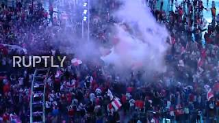 LIVE Fans celebrate in Buenos Aires after Libertadores final