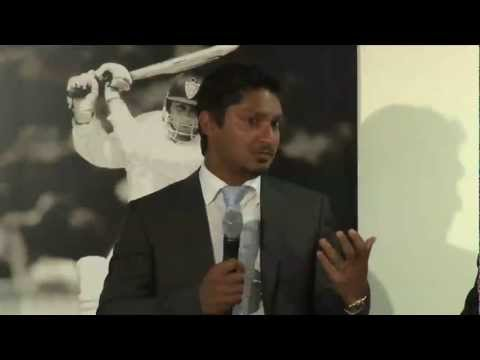 Kumar Sangakkara at the LBW Trust Annual Dinner 2013, Pt 1/2