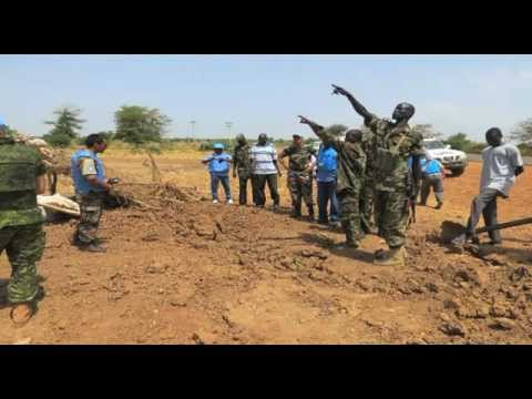 UNMISS - SRSG Hilde Johnson talks to the Press on the Bentiu Bombings.flv