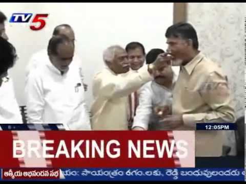 TS BJP MLC Members Thank & Greet Chandrababu With Sweets : TV5 News