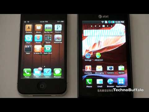 iPhone 4 vs. Samsung Captivate