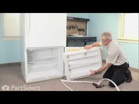 Refrigerator Repair- Replacing the Freezer Door Gasket (Whirlpool Part #12550116Q)
