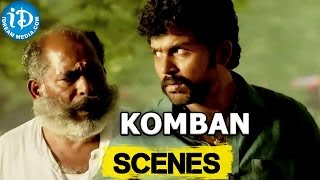 Komban Movie || Karthi, Thamb Ramaiah Scene