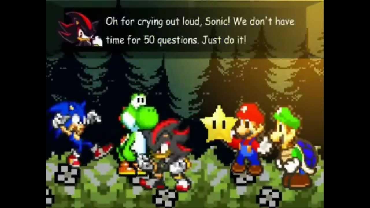 Sonic et Luigi Mario Luigi Sonic And Shadow