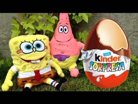 Bob Sponge Kinder Surprise Cholocate Egg - Magic toys!