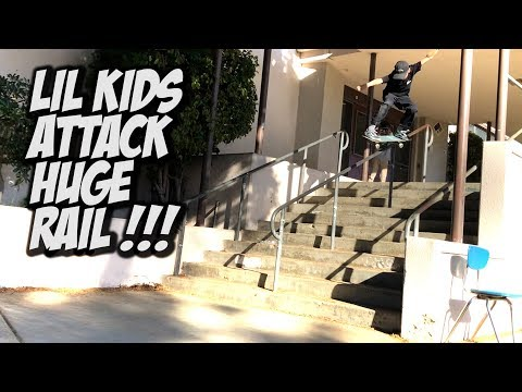 LIL KIDS CONQUER HUGE RAIL AND MUCH MORE !!! - NKA VIDS -