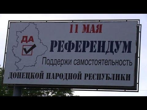 East Ukraine gears up for rebel referendum