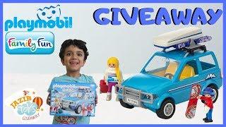 Playmobil Family Fun Ski Holiday Giveaway Video for Kids | Playmobil 9281 | Jazib Toys Giveaway