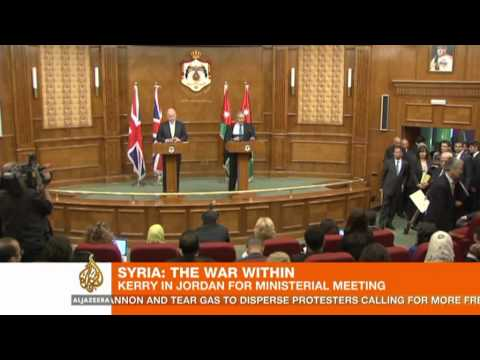 Kerry wars Assad over Syria violence