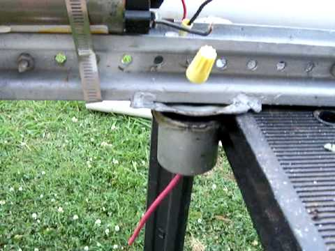 DIY treadmill motor wind generator