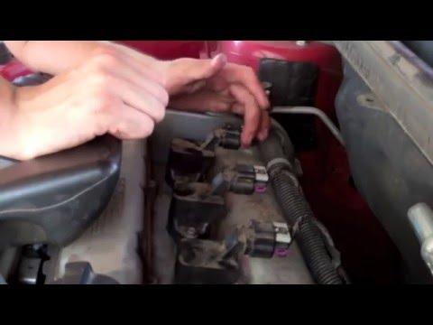 Chevy Cobalt Spark plugs installation (w/o ecotec cover)