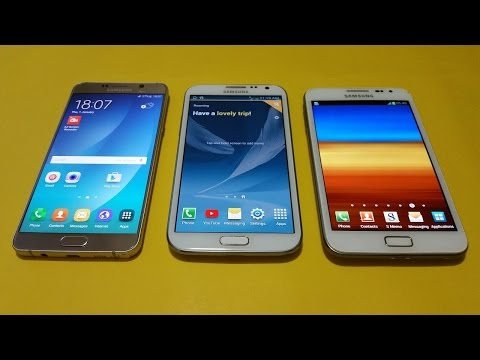 Samsung Galaxy Note 5 Vs Note 2 Vs Note 1- Speed Test!