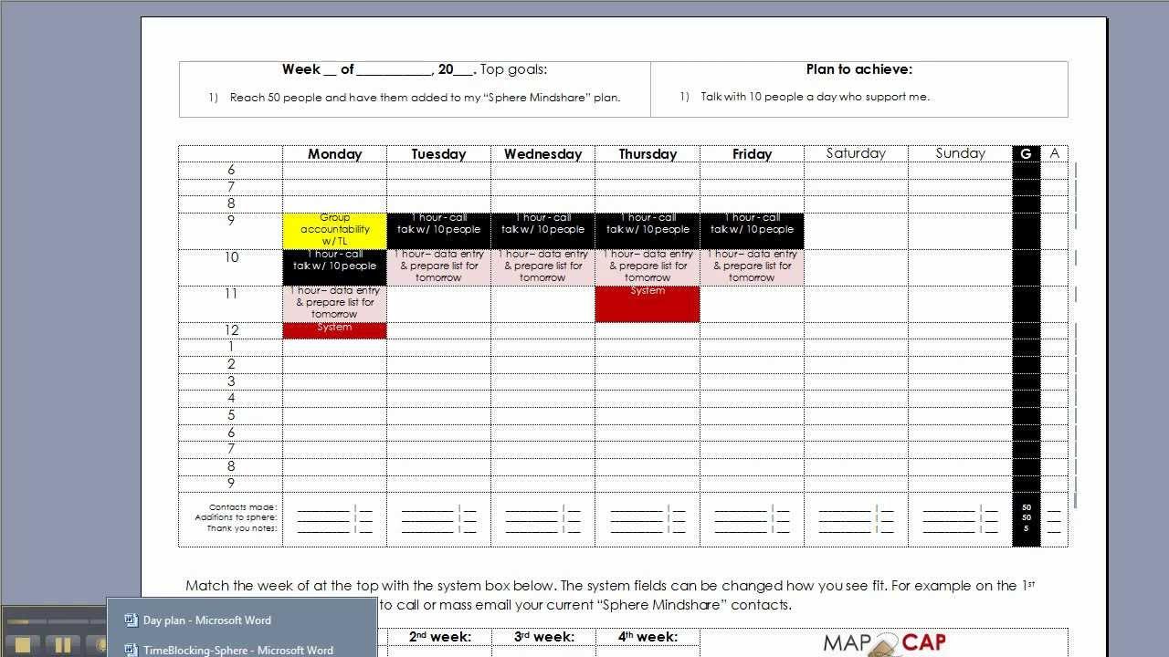 weekly scheduling calendar