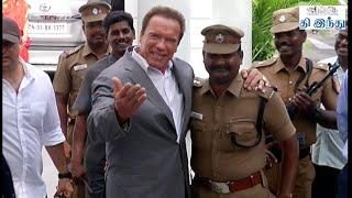 Arnold Schwarzenegger Meets Jayalalitha | Tamil The Hindu