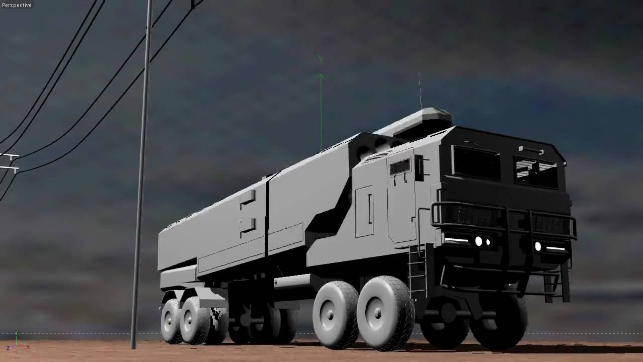 rocket launcher truck cinema 4d r11 youtube. Black Bedroom Furniture Sets. Home Design Ideas